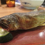 夜ノ焼魚 ちょーちょむすび - 鮎の塩焼き