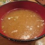 夜ノ焼魚 ちょーちょむすび - 味噌汁