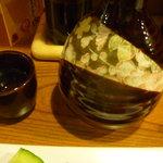 酒ダイニング つじ丸 - 石鎚(地酒)2合熱燗