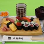 三朝寿司 - 寿司セット