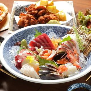 こだわりの串焼きと産直鮮魚!