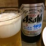 檜垣 - 寿司いただくにあたって、お茶では寂しいし失礼ですから、ビールをいただきました(2017.9.9)