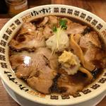 72806421 - 肉そば(醤油)+エッグライスのセット(1,100円)の肉そば