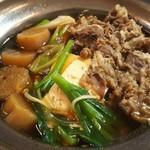 金太郎 - 牛鍋(すき焼き)定食 550円