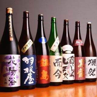 日本酒や焼酎などのお飲物を多数ご用意