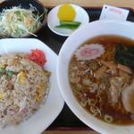 きのこ山ラーメン - 料理写真:'17/09/09 Aセット(税込880円)