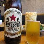 魚河岸 丸天 - サッポロラガービール 赤星 大瓶