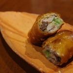 虎穴 - 料理写真:鮎のパートフィロ春巻