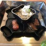 焼肉縁結 - 義経鍋の図