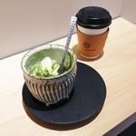 カモンホステル カフェ - アフォガード抹茶とコーヒー合わせて750円