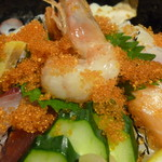 北浜の和がや - 海鮮丼アップ