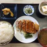 おおもり - 日替り定食 ロース甘酢餡 600円 お腹いっぱい!