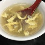 汁なし担々麺 ちりちり - 汁なし担担麺付属のスープ