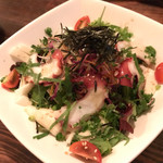 楽天酒家 - 山芋とタコのサラダ