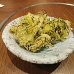 呑み食い処・宗次郎 - めかぶの天ぷら(お通し)