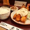 香竹 - 料理写真:エビフライ(小)1650円  ライス中150円 赤だし100円