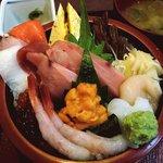 寿司酒家 七福食堂 - 七福食堂 @横須賀市長坂 特上海鮮丼