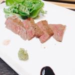 日本料理 瀧 - 長崎牛イチボの炭火焼き