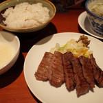 たんや 善治郎 - 牛たん定食 3枚(6切れ)