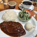 丸福珈琲店 - ハンバーグプレート