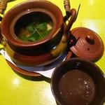 しゅんまん - 今年初の松茸土瓶蒸し