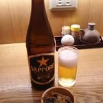 そば処 みよ田 - 瓶ビール(中) 650円
