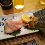 そば処 みよ田 - 大岩魚の刺身・なめろう 780円