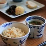 福日和カフェ - 発酵玄米とお味噌汁