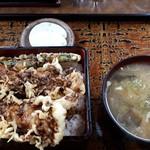 むさし乃 - 天丼1000円