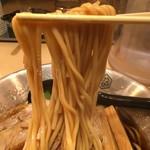 京都千丸 しゃかりき むらさき - 平打ちストレート麺