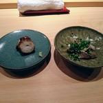 72842197 - 秋刀魚が入手できないので脂が乗った根室の鰯、煮蛤