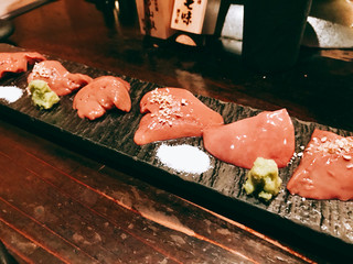 炭トリウオ ハナレ - 『鶏肝刺し』様(値段不明)