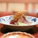 にしぶち飯店 - 料理写真:もどりかつおとのどぐろに揚げネギを添えて