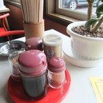 ラーメンの幸山 - テーブル