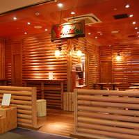 レストラン ワイワイ - 外からも…ログハウスの雰囲気を味わえます。