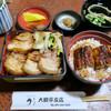 大観亭支店 栄町本店 - 料理写真:ミニ豚丼&ミニうなぎ丼のハーフ&ハーフのセット(1400円)