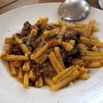 オステリア イマムラ - 料理写真:阿波牛すね肉と牛蒡のラグーソースガゼレッチェ