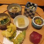 かま田 - 鱧天、鱧卵煮凝りが好み。