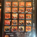亀正くるくる寿司 - 380円メニュー