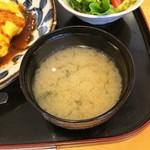 浅草うまいもん あづま - 味噌汁。