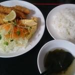 天心 - (20170909)白身魚フライ定食