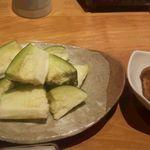 うろこ雲 - 水茄子 茗荷味噌