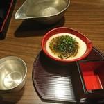 日本酒スローフード にいがた方舟 - 前菜は食前酒付き