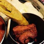 カレーの店 マヤ - チキンティッカ&シークカバブのアップ