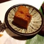 鉄板焼・旬彩 ほづみ - 黒毛和牛は、お醤油のムースを付けていただくことができます。
