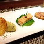 鉄板焼・旬彩 ほづみ - 前菜盛り合わせ