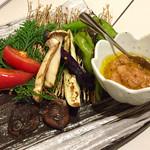 72863495 - 季節野菜のバーニャカウダ