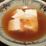 手打ち蕎麦 成冨 - お豆腐の生姜葛あんかけ
