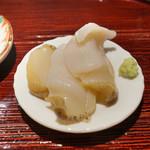 東麻布 天本 - 呆気にとられる厚岸のつぶ貝