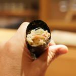 東麻布 天本 - 毛蟹巻物